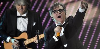 Members of Italianband Stadio perform on stage during the Sanremo Italian Song Festival at the Ariston theater in Sanremo, Italy, 13 February 2016. The 66th Festival della Canzone Italiana runs from 09 to 13 February. ANSA/CLAUDIO ONORATI
