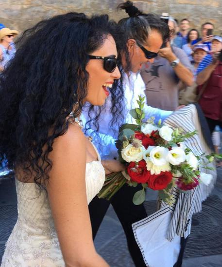 Piero Pelu' e Gianna Fratta sposi a Firenze